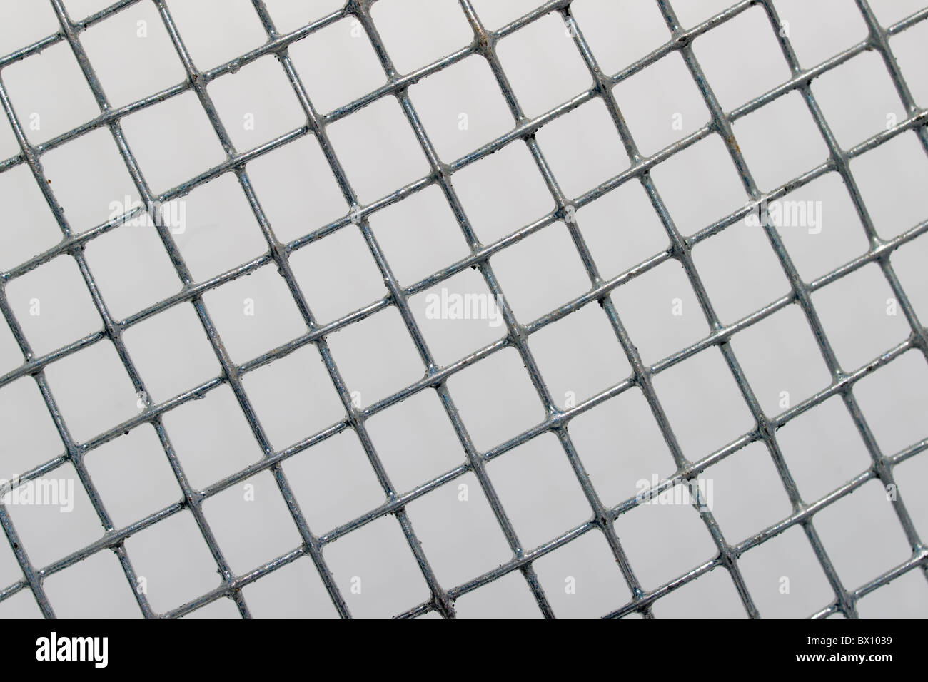 Galvanized screen close up - Stock Image