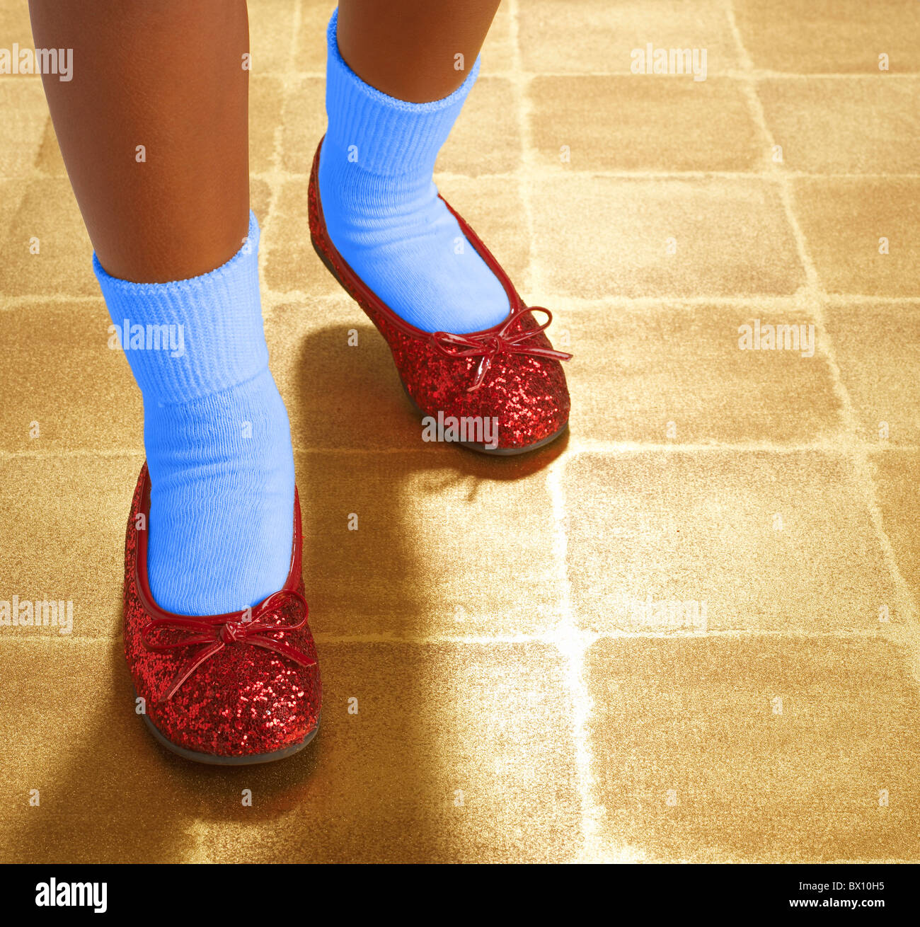 c52b77ab685 ruby red sequin slippers Stock Photo  33213857 - Alamy