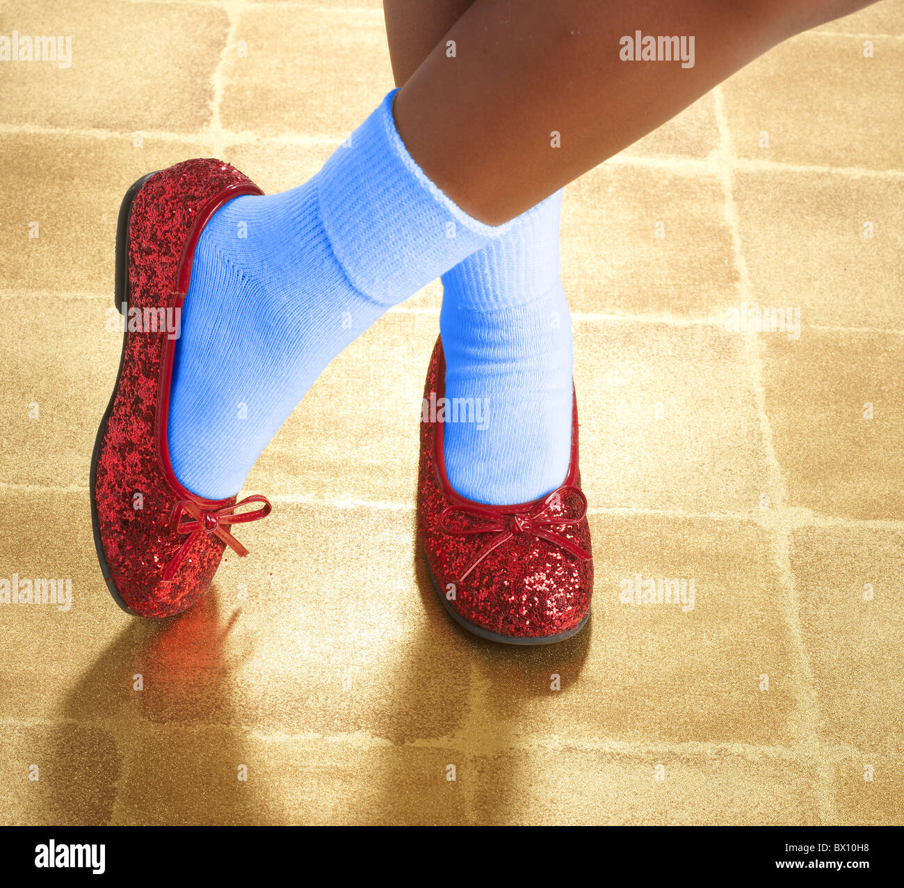 3c339136a82 ruby red sequin slippers Stock Photo  33213860 - Alamy