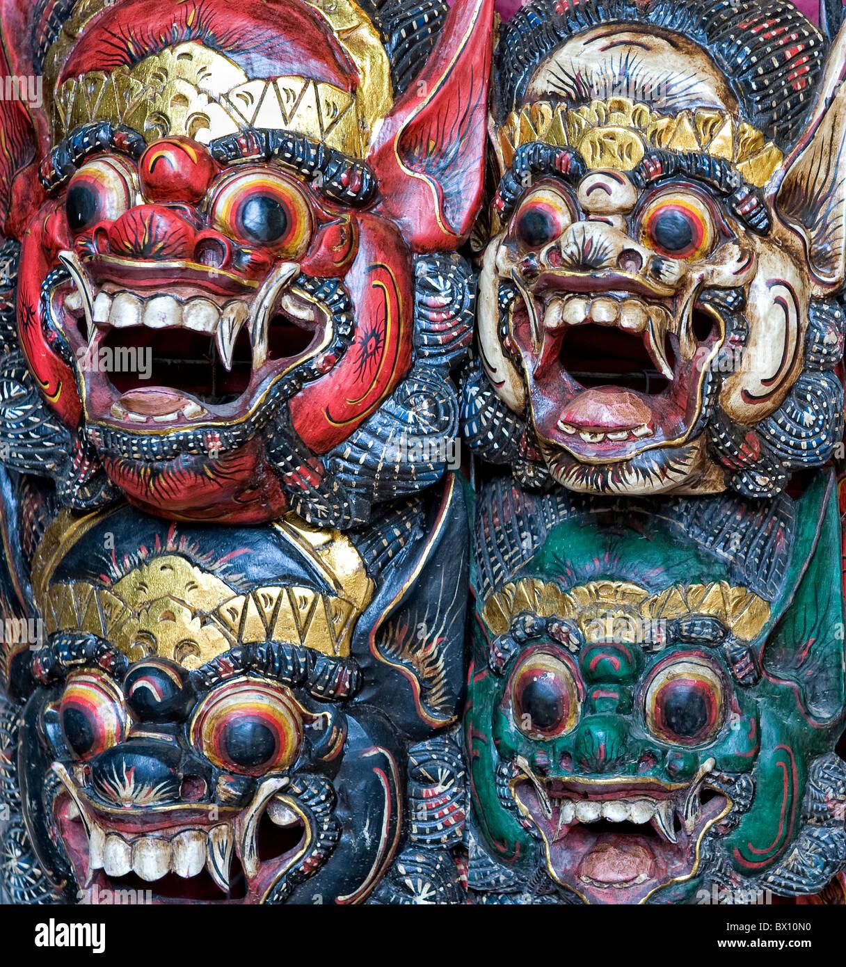 Buddhist  cultural masks - Stock Image