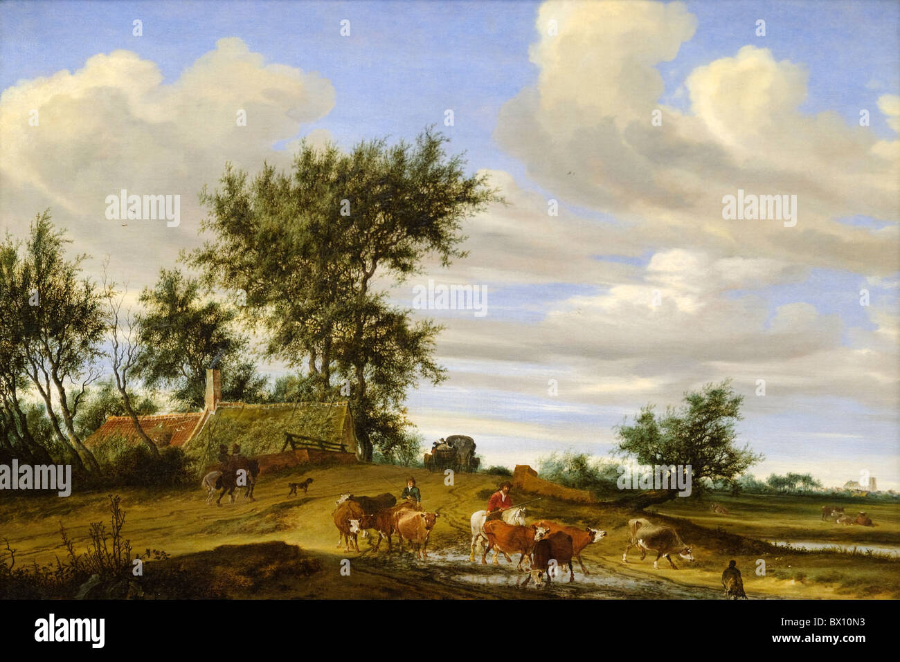 A Country Road, 1648, by Salomon van Ruysdael Stock Photo