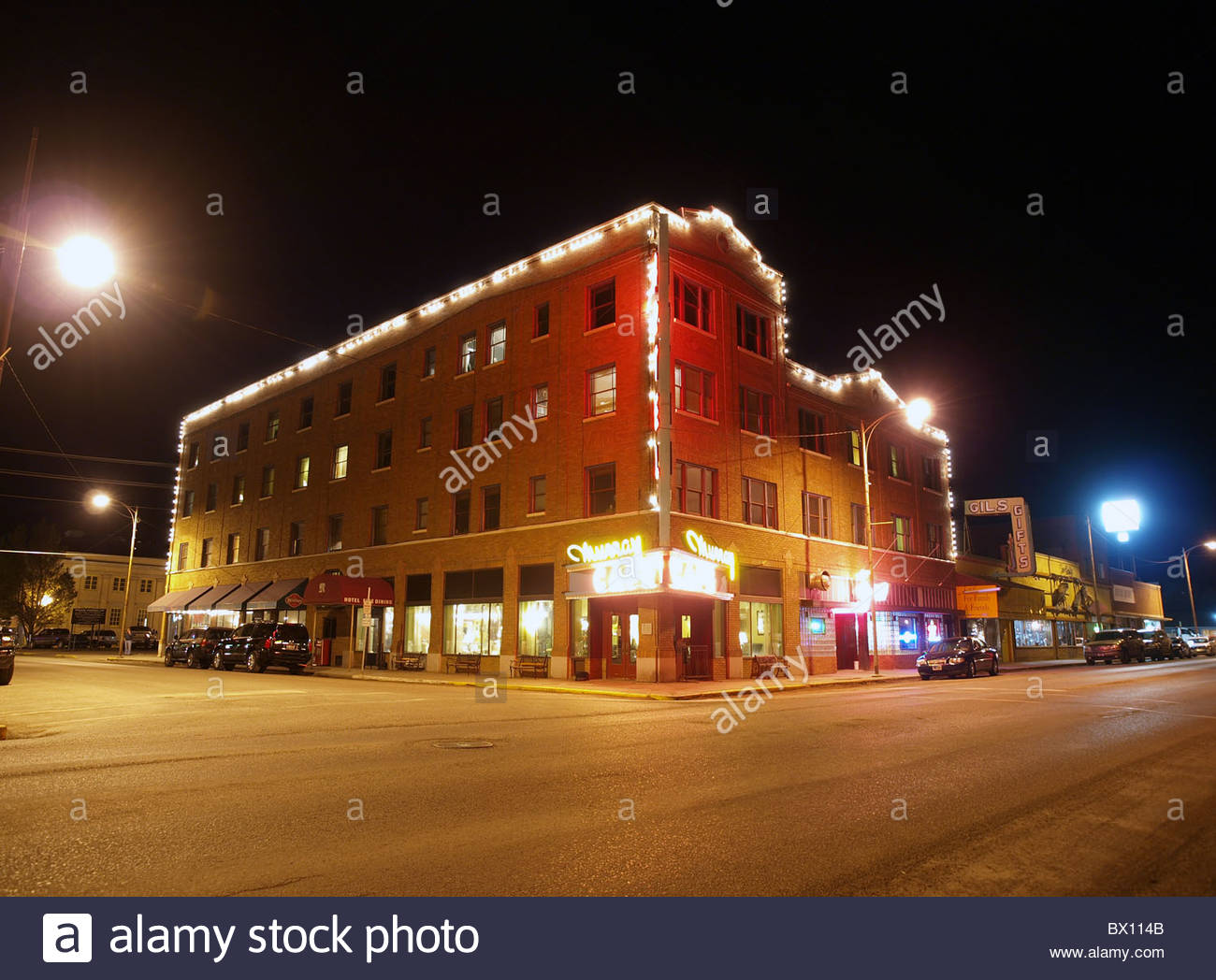 Famous Murray hotel in Livingston Montana. Rustic western living at its best. - Stock Image