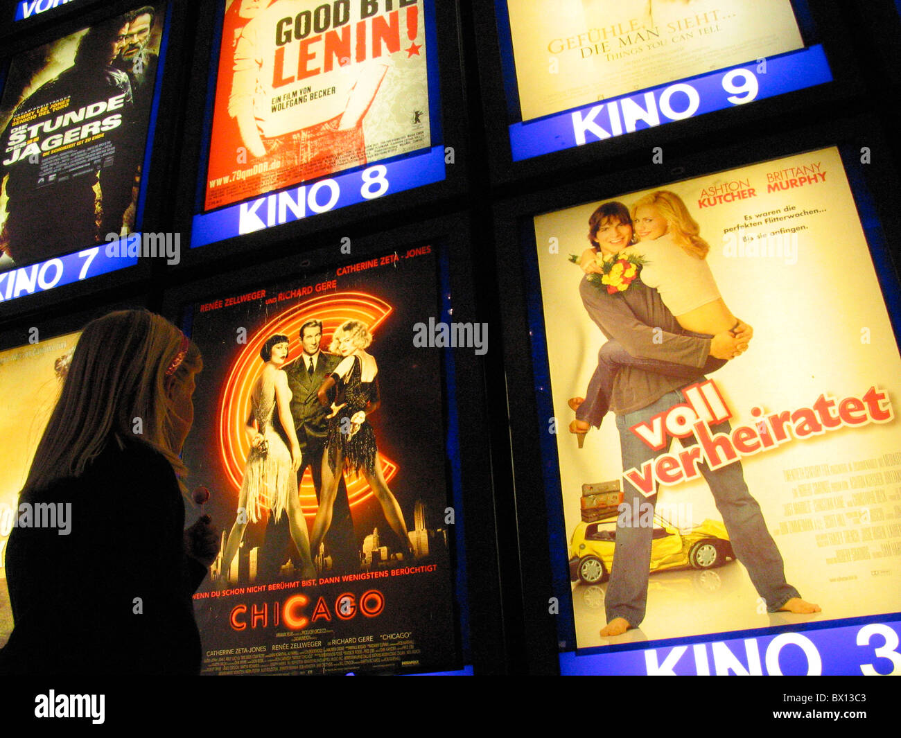 exit film film poster films girl model released movie movies Movies offer poster poster wall supply - Stock Image