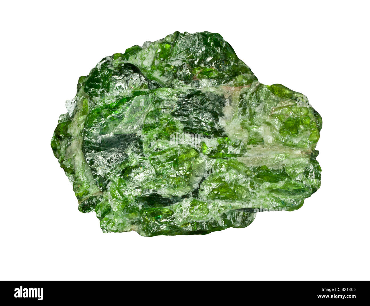 Chrome diopside - Stock Image