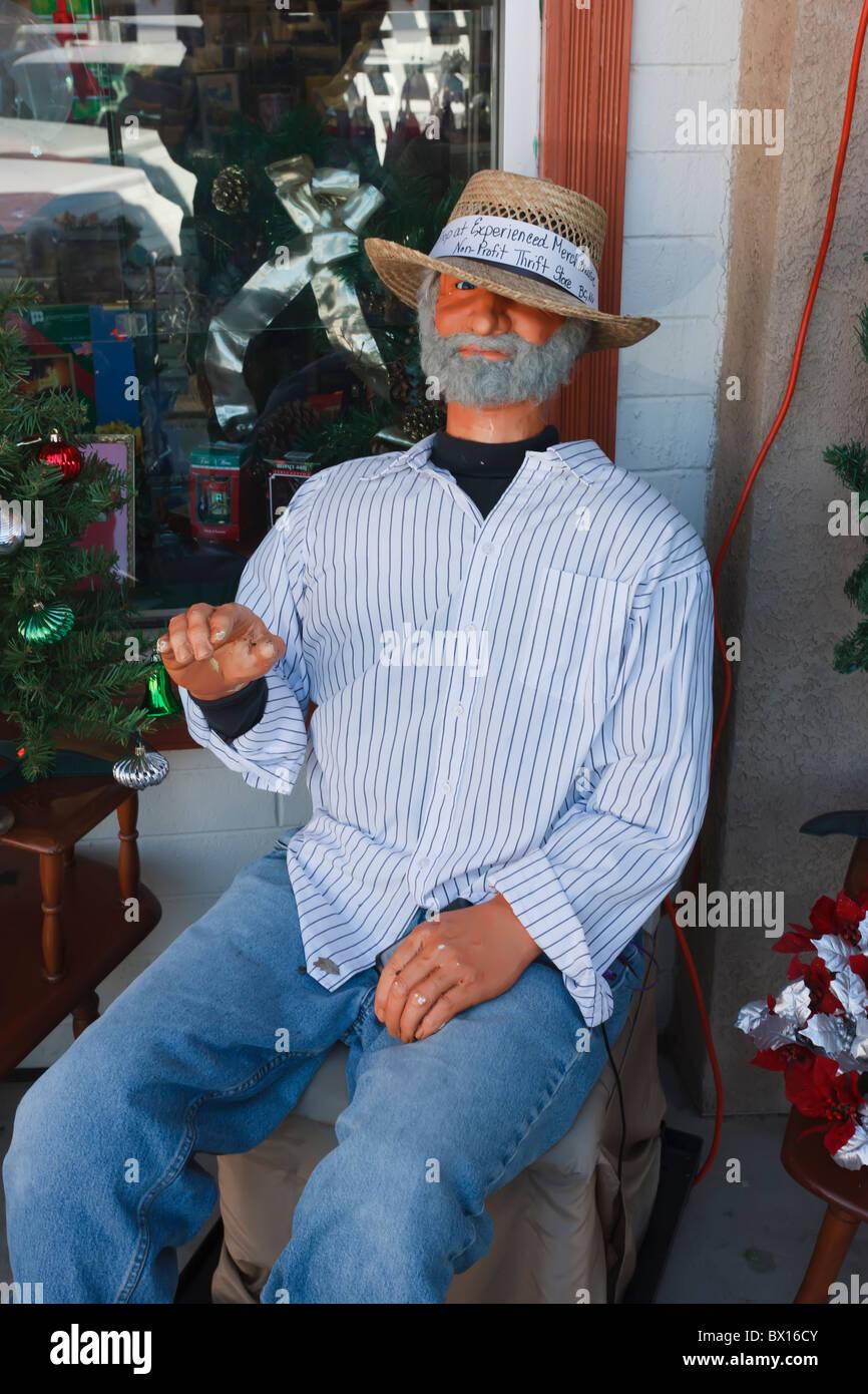 Life like talking male mannequin, Boulder City, Nevada - Stock Image
