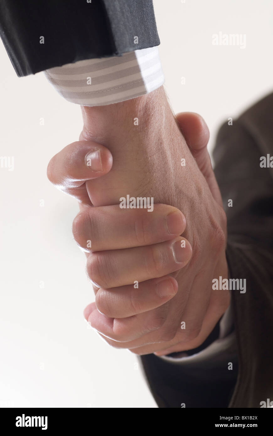 Closeup of a businessmen handshaking Beirut Lebanon Middle East - Stock Image