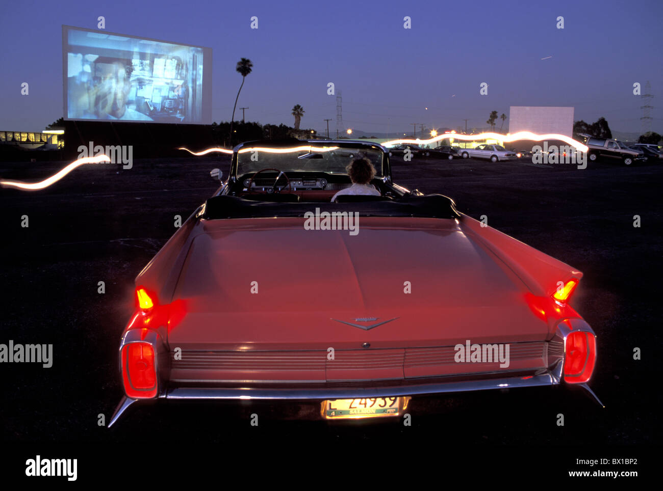 California Drive In Theatre Los Angeles Usa America United States Stock Photo Alamy