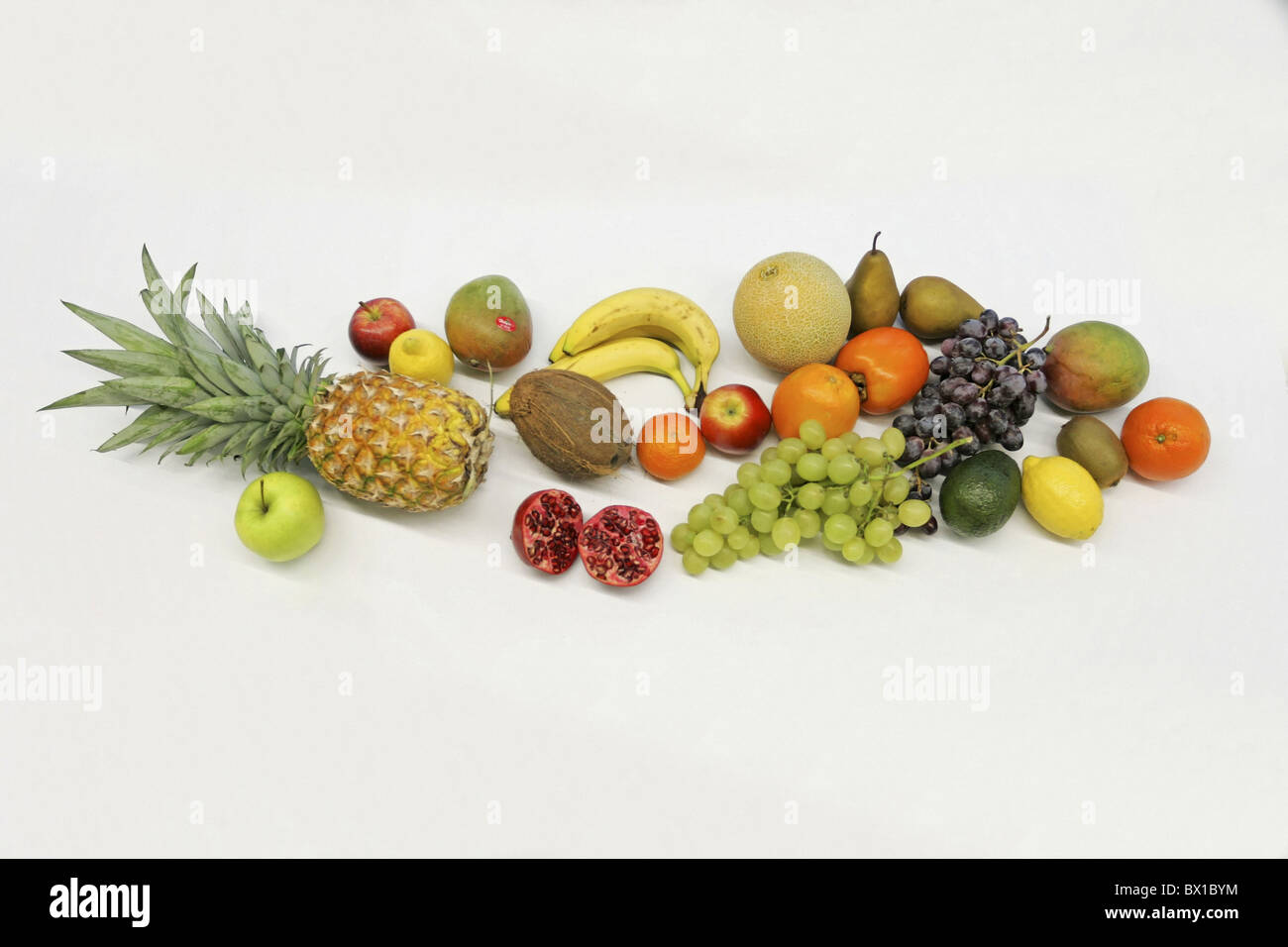 fruit different still still life food healthy vitamins studio food - Stock Image