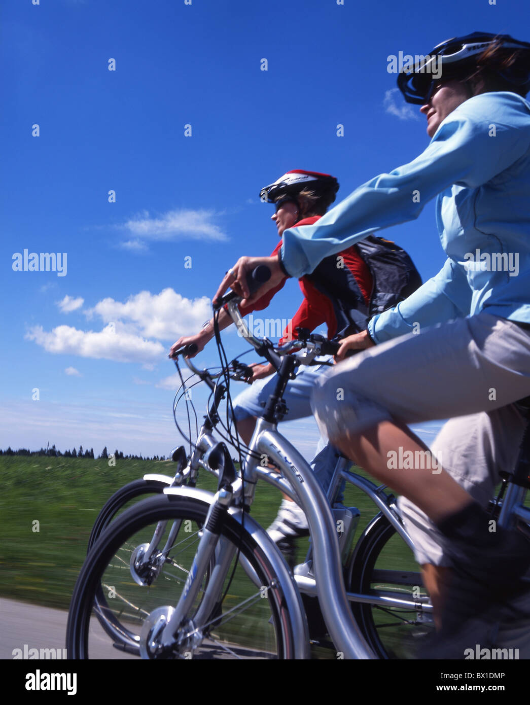 bicycle bike electric Flyer group scenery landscape spare sports summer Switzerland Europe time tour b - Stock Image