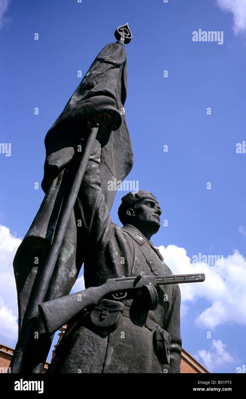 Budapest figures former communism sculptures history Hungary Europe sculpture - Stock Image