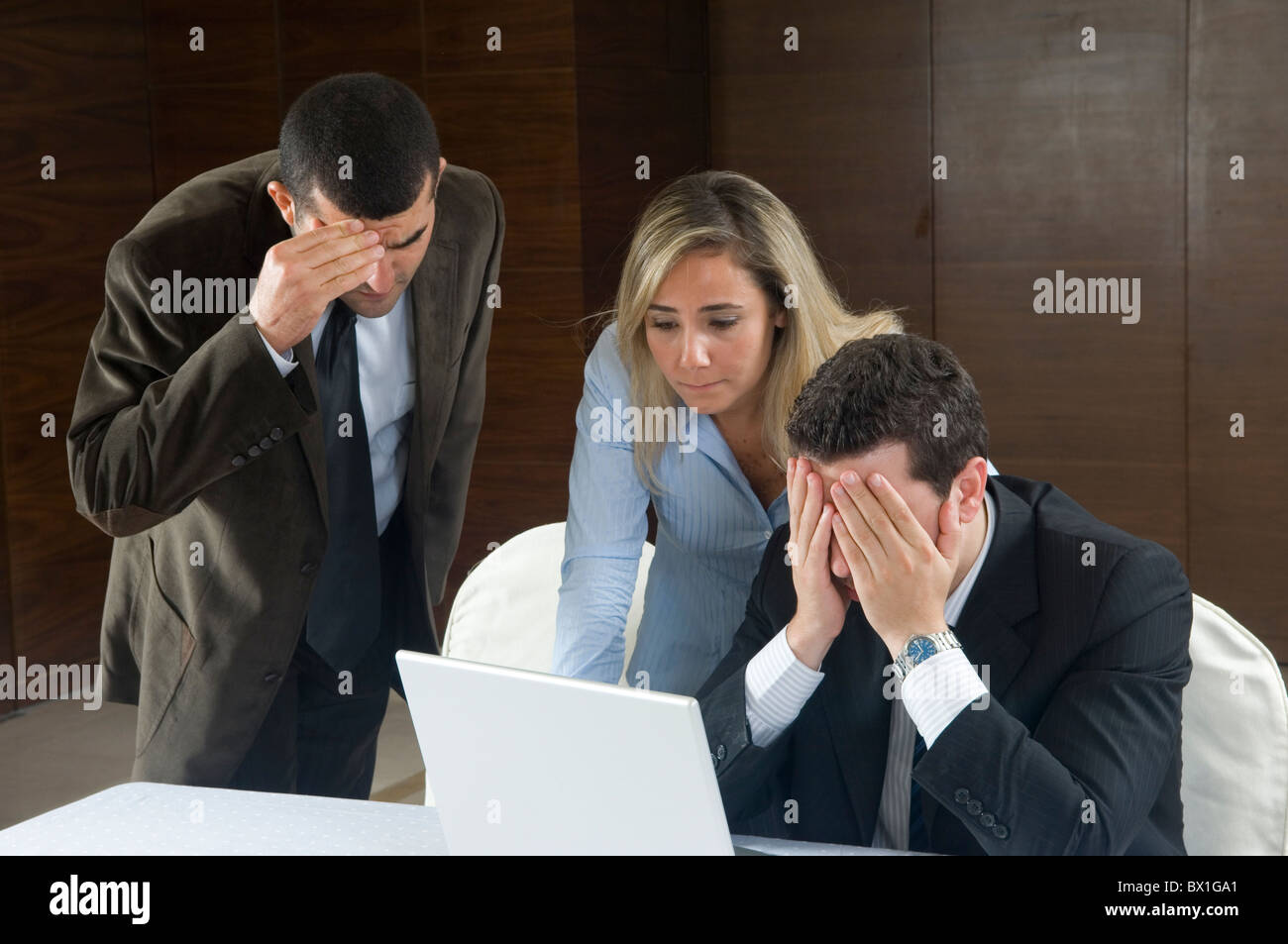 Frustrated business people at work inside office Beirut Lebanon