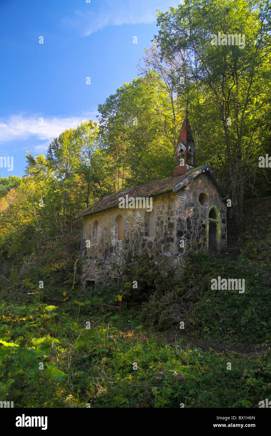 Abandoned and decaying Church along the Wutachschlucht in the Black Forrest, Germany - Stock Image