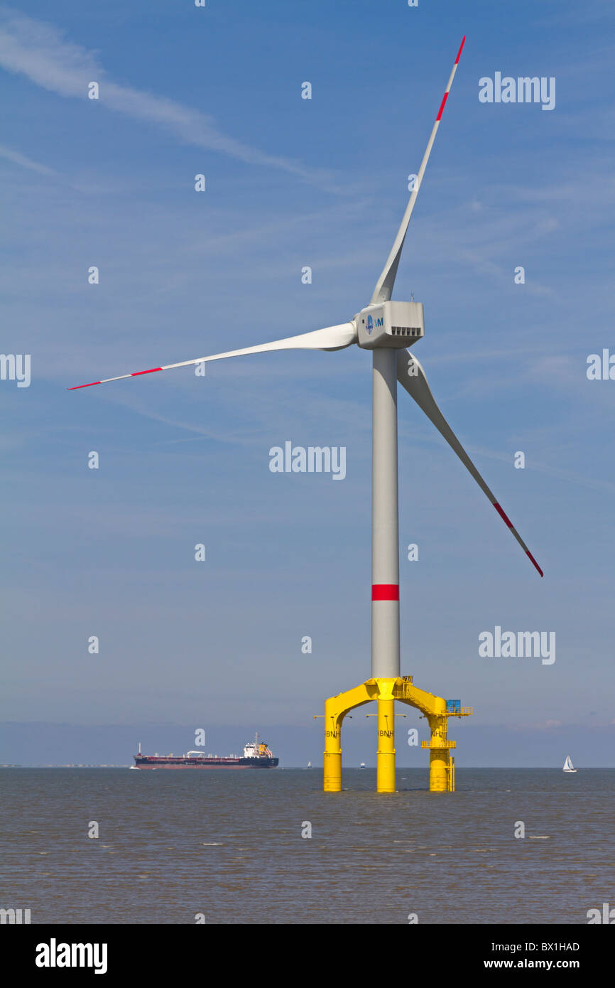 Offshore wind power station Bard 5 - Stock Image