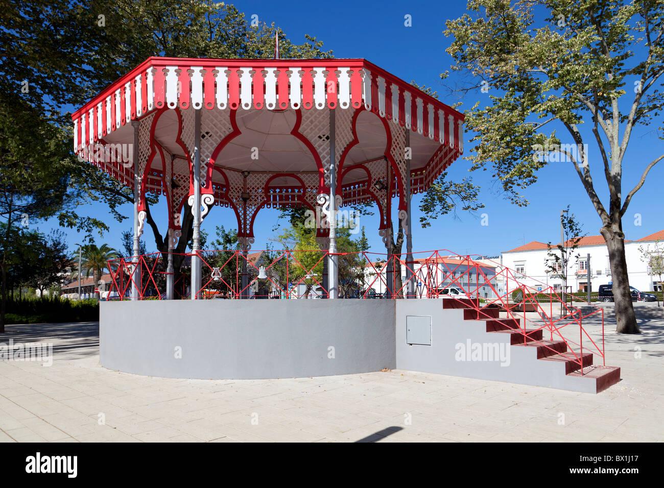 Bandstand in Republica Garden in the city of Santarém, Portugal. - Stock Image