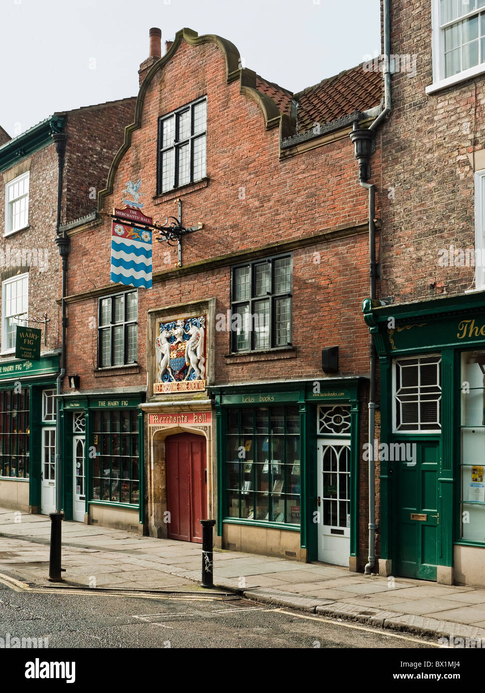 Entrance to Merchant's Hall, Fossgate, City of York, Yorkshire, UK - Stock Image