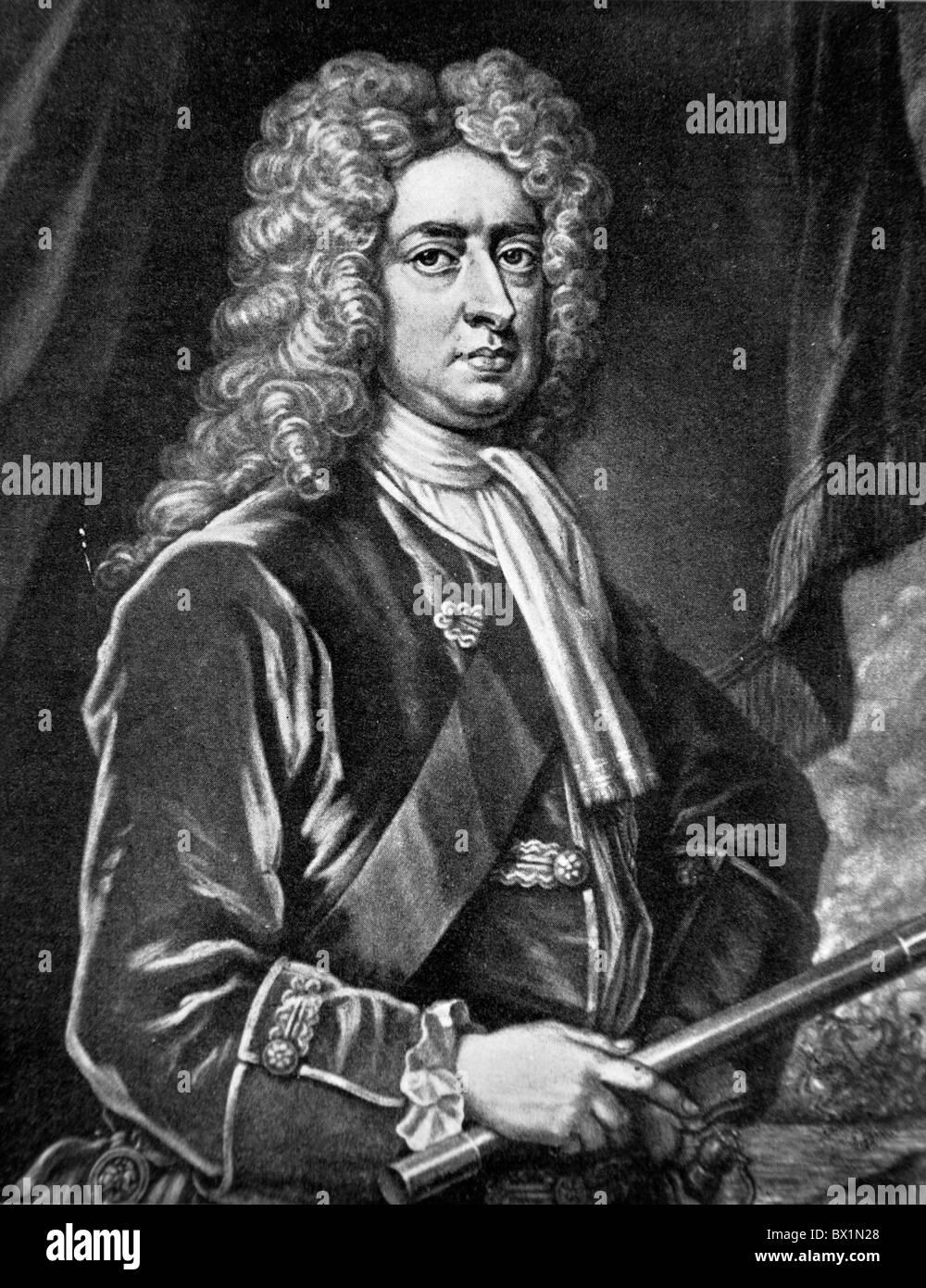Portrait of John Churchill, Duke of Marlborough, Prince of Mindelheim - Stock Image