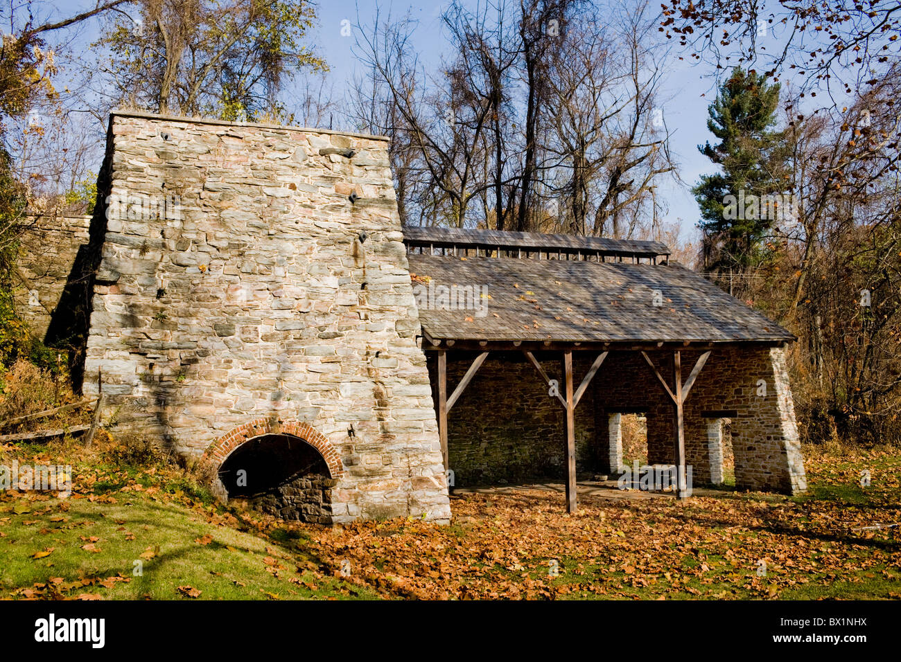 Catoctin Furnace, a colonial era iron furnace in Thurmont, Maryland - Stock Image
