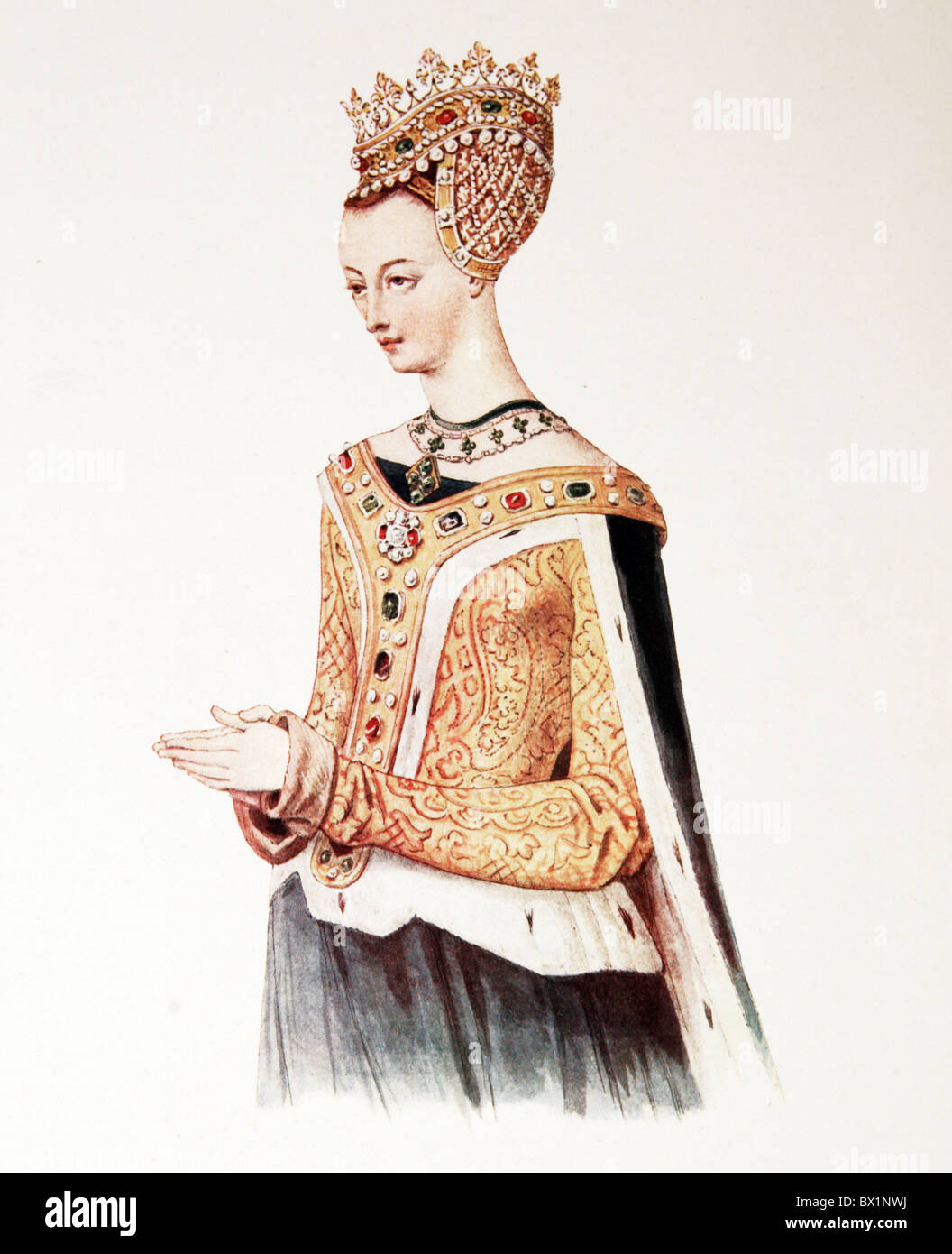 Margaret Queen of Scots, wife of King James IV of Scotland, - Stock Image