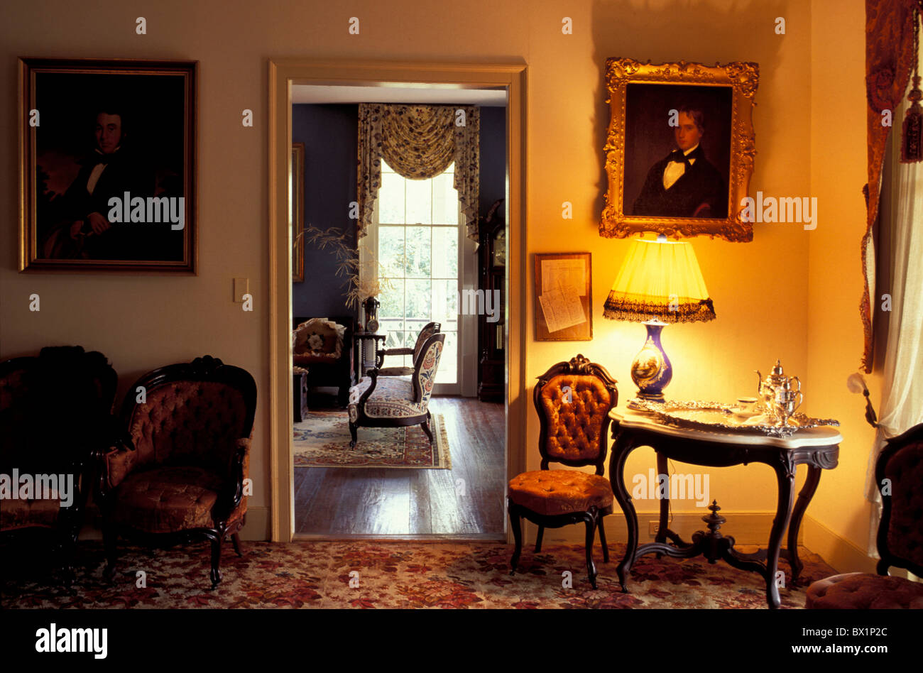 equipment historical home house institution livings Louisiana luxury nostalgia old Saint Francis Ville Bu - Stock Image
