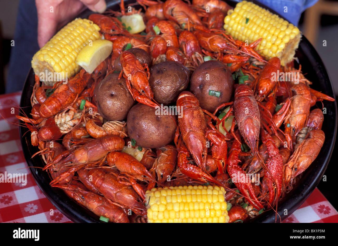 Cajun Food Corn Crawfish Crawfish Dish Food Lake Fruit