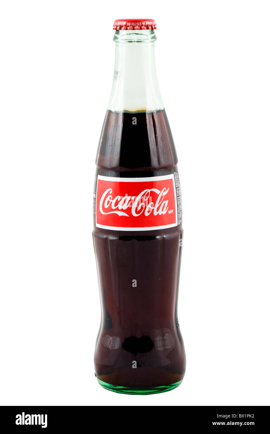 Classic style bottle of Coca Cola, USA - Stock Image