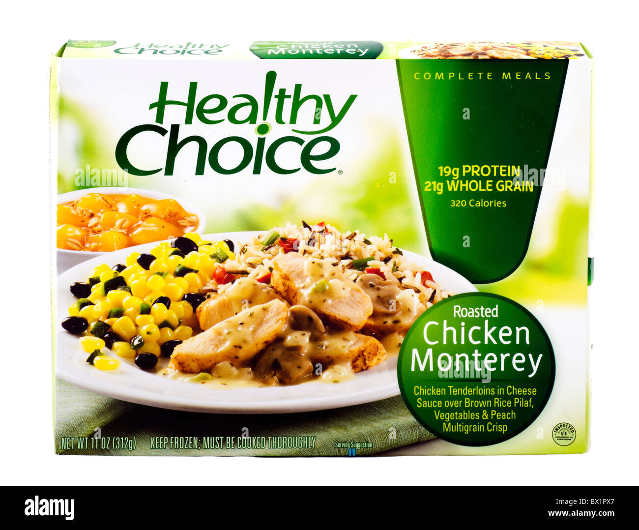Healthy Choice Roasted Chicken Monterrey frozen ready meal, USA - Stock Image