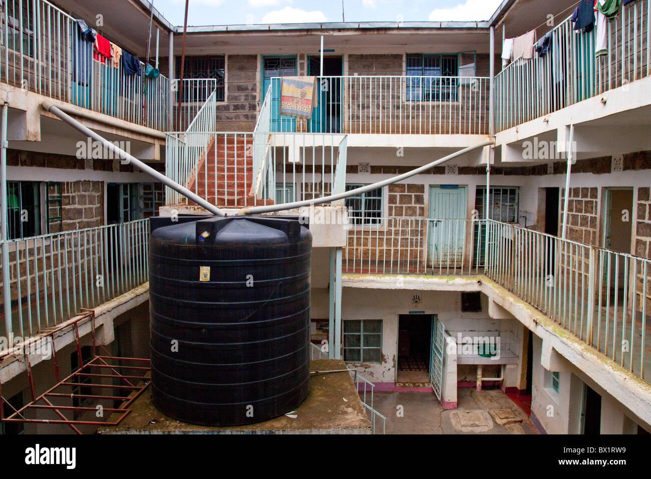 Water catchment system, Maji Mazuri Children's Centre, Nairobi, Kenya - Stock Image