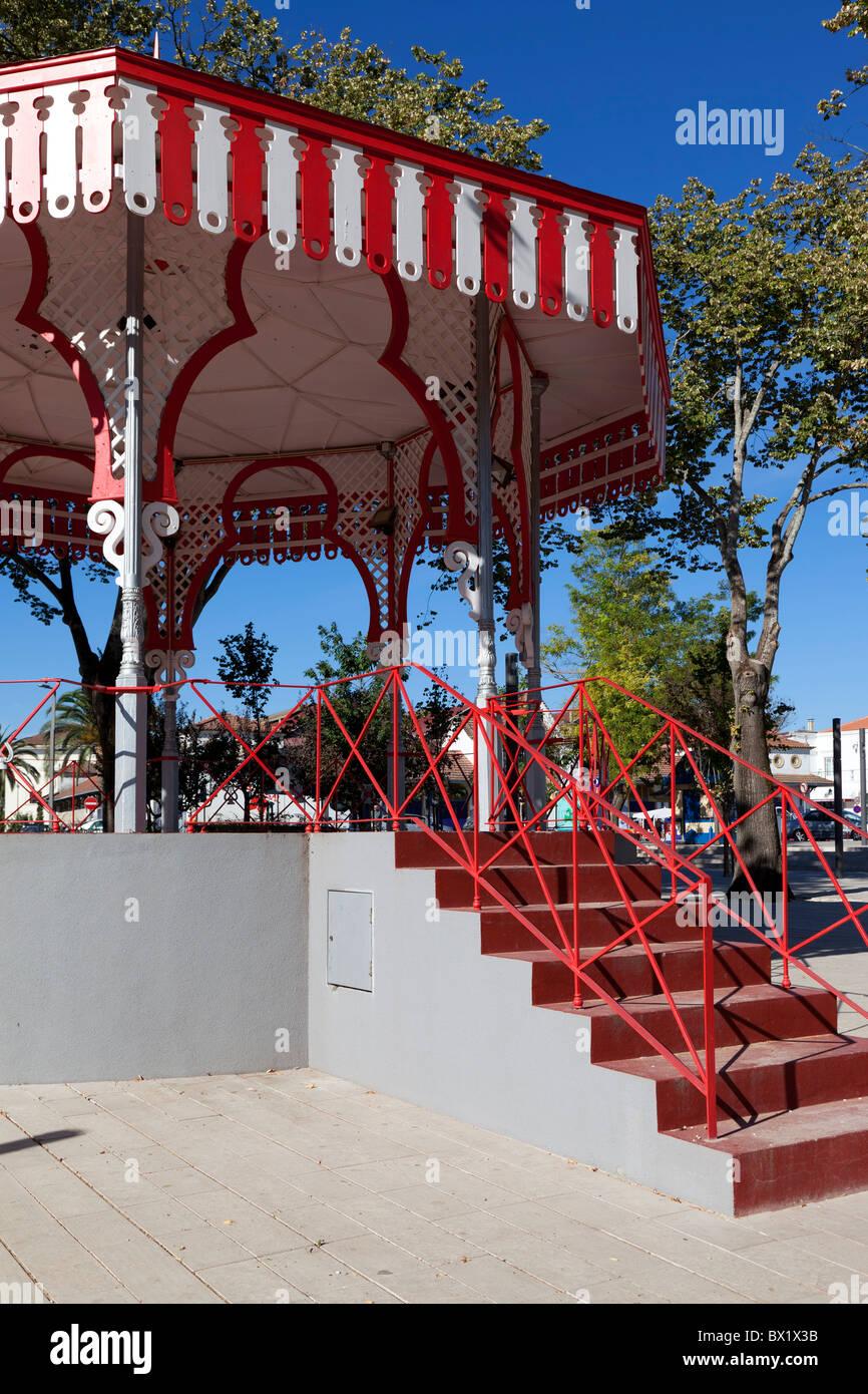 Bandstand in Republica Garden in the city of Santarém, Portugal. Stock Photo