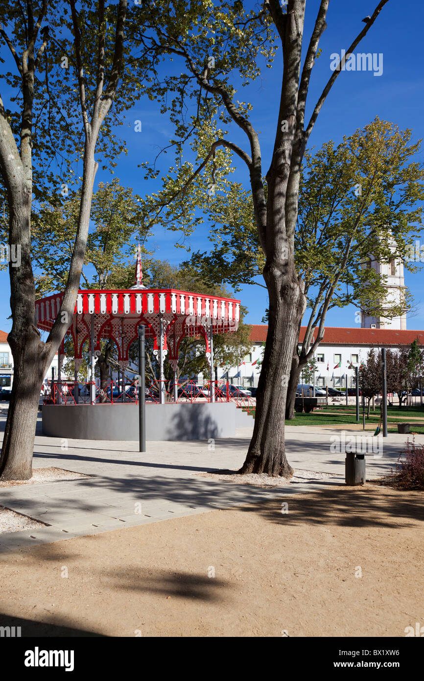 Bandstand in Republica Garden in the city of Santarém, Portugal. - Stock Image