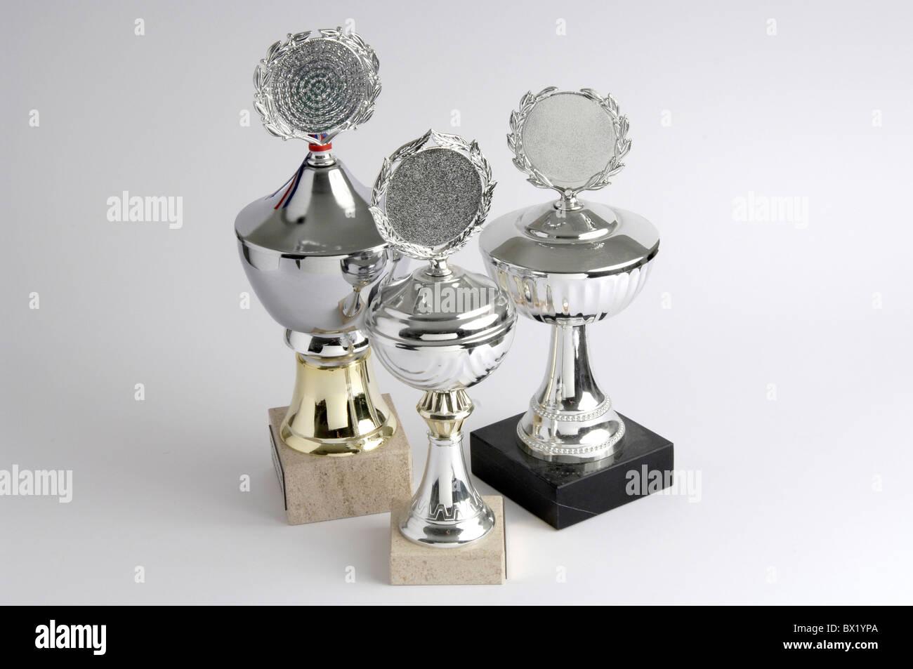 Cup win win best success Winner winner honoring trophy - Stock Image
