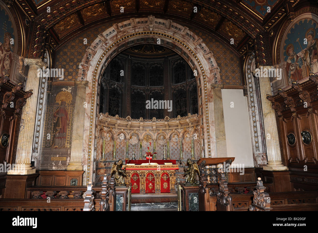 The chapel at at Crewe Hall in Cheshire - Stock Image