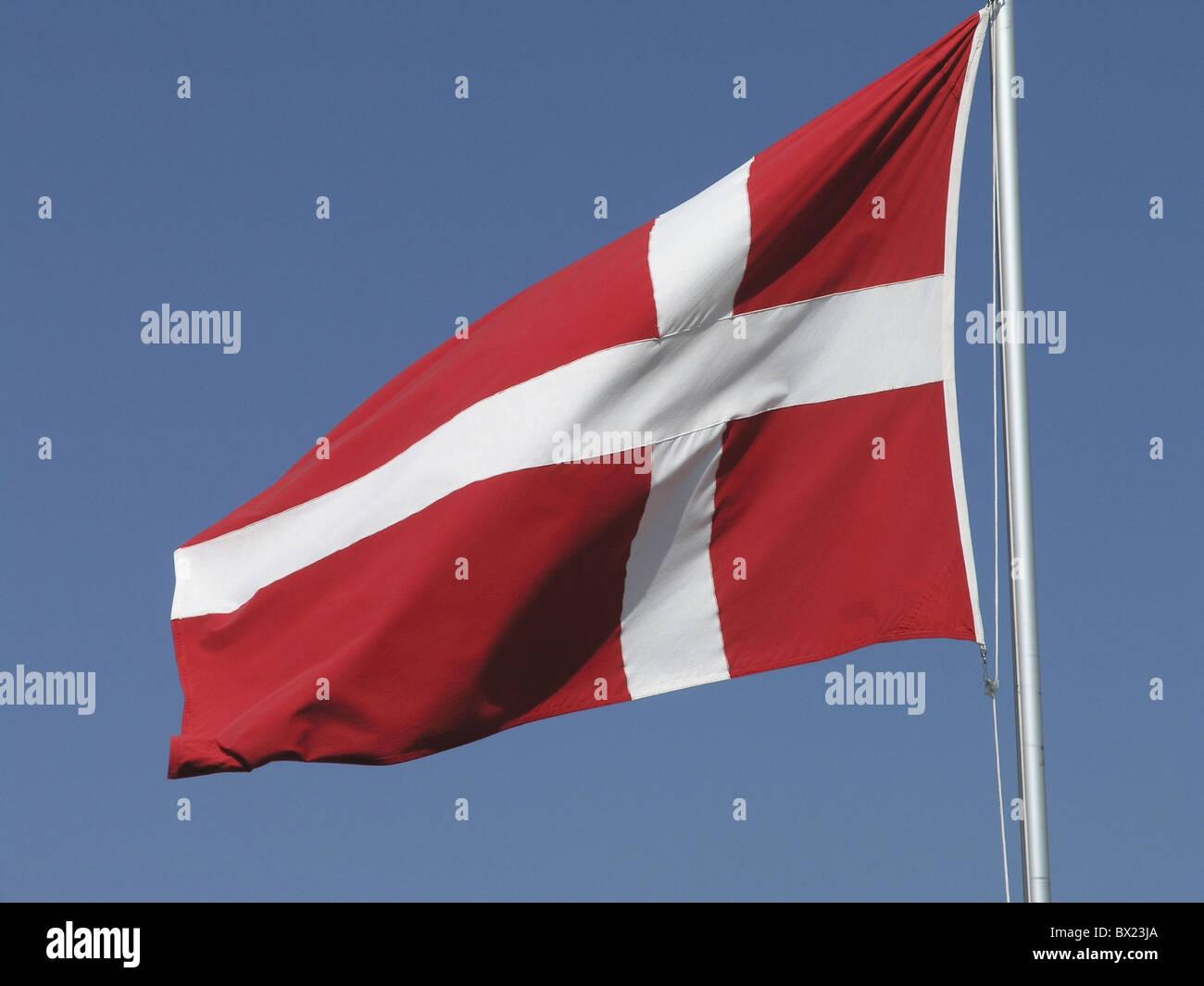countries Denmark Europe Europe flag nations sky symbol - Stock Image