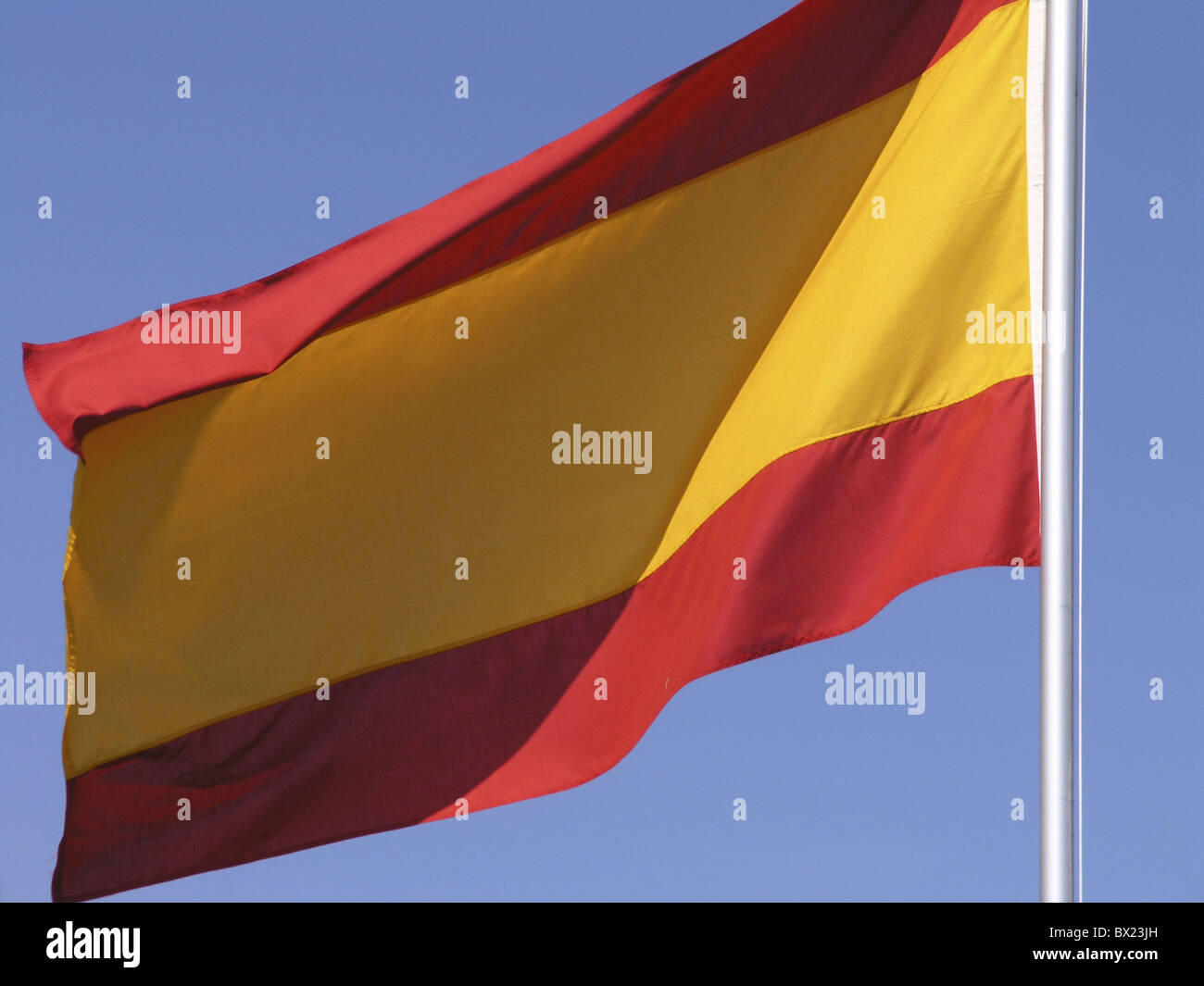 countries flag nations sky Spain Europe symbol - Stock Image