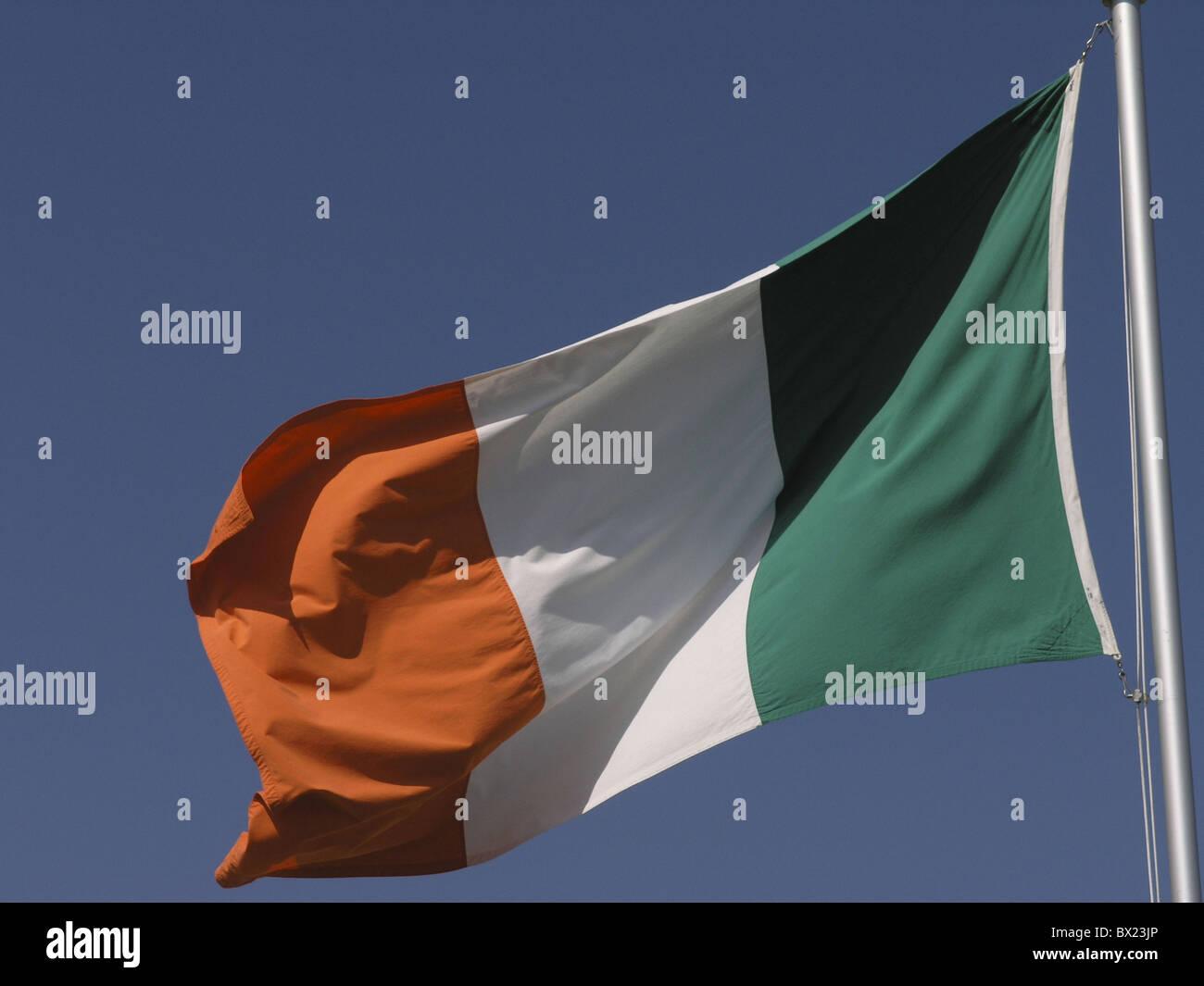countries flag Ireland Europe nations sky symbol - Stock Image