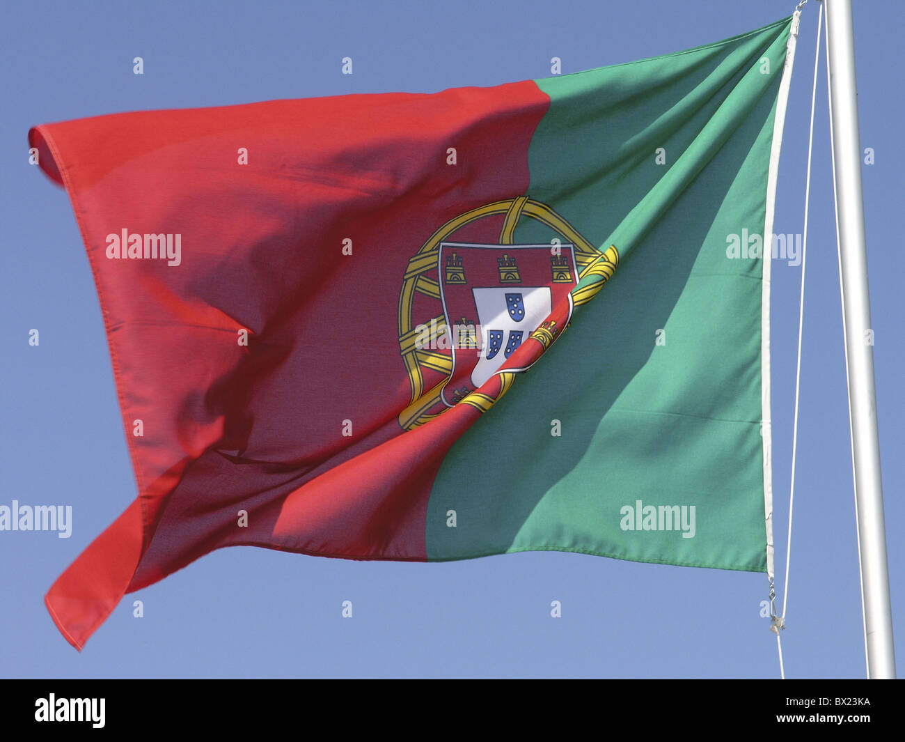 countries flag nations Portugal Europa Europe sky symbol - Stock Image