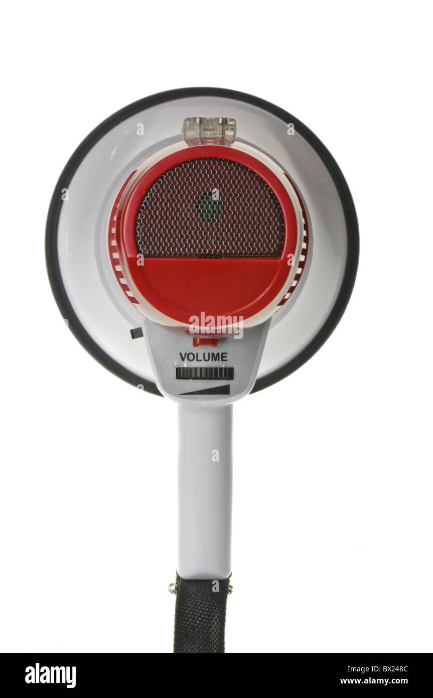 Megaphone loud hailer - Stock Image