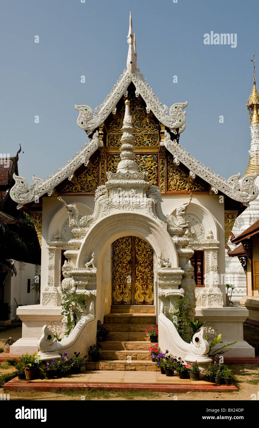 Wat Buppharam in Chiang Mai in Thailand South-East Asia Stock Photo