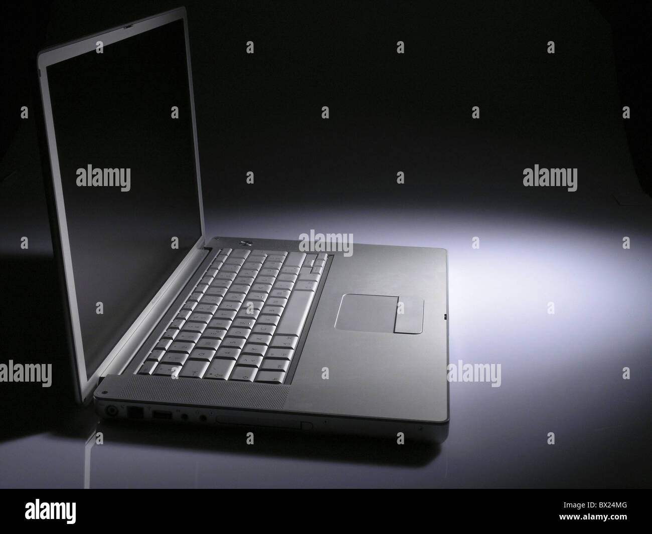 appliance computer device laptop notebook studio without persons - Stock Image