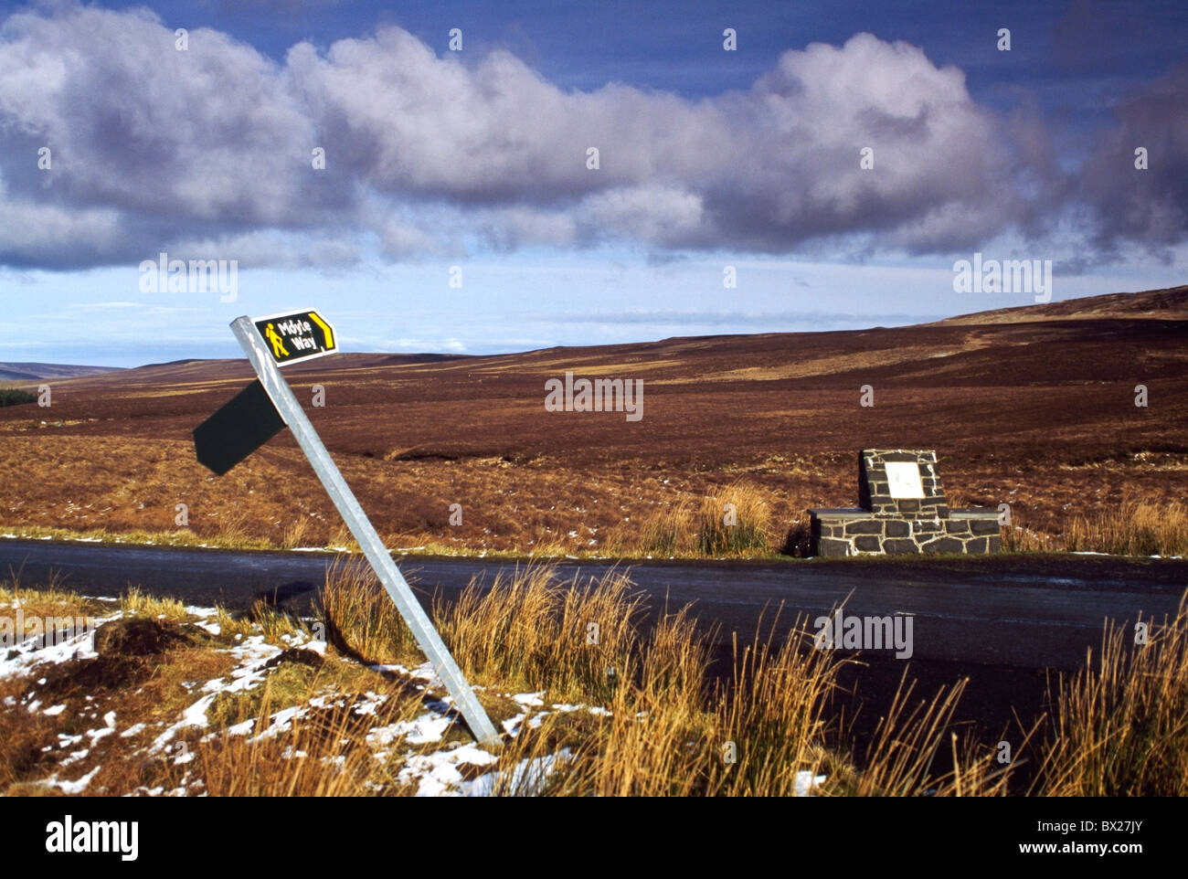 Road Signs, Moylw Way, Bog Co Antrim - Stock Image