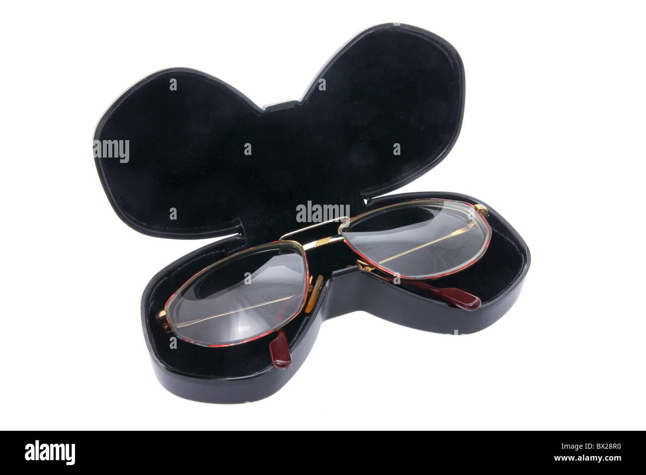 Eyeglasses in Case - Stock Image
