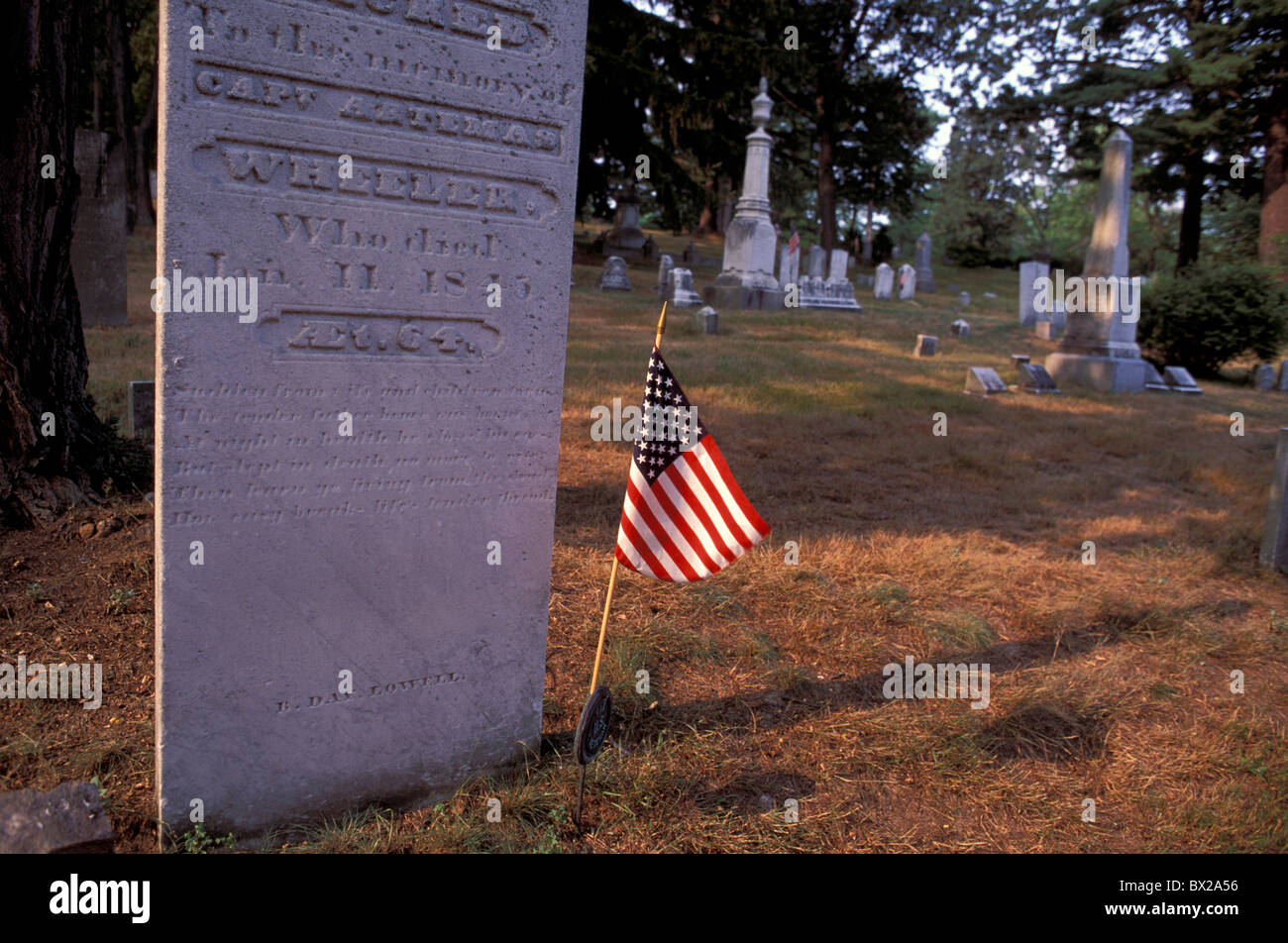 America Authors ridge Place de la Concorde Massachusetts Sleepy hollow cemetery United States North America U - Stock Image