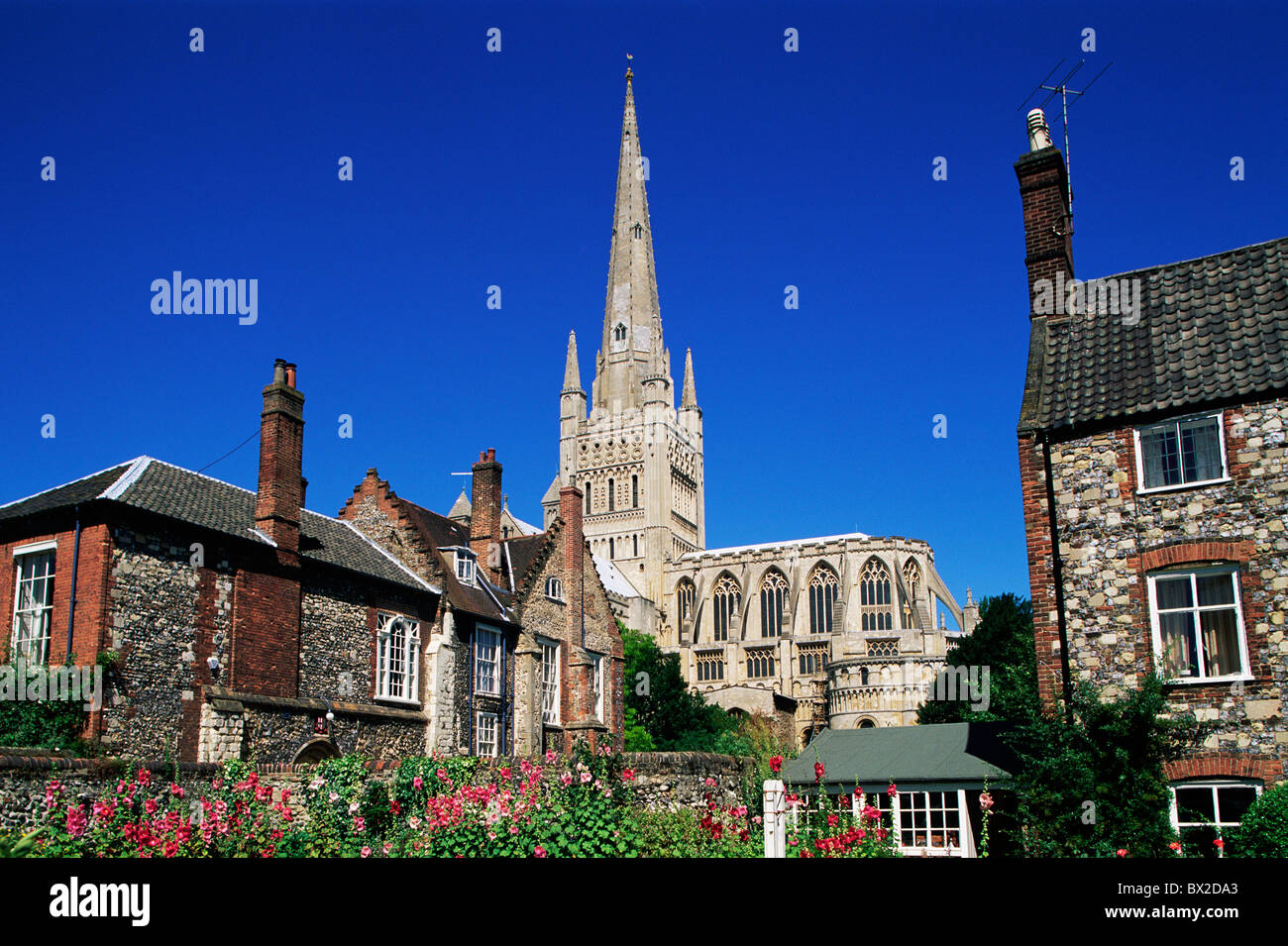 Britain British Isles Built 1096 Cathedral Christianity East Anglia England Great Britain Europe Norfolk N - Stock Image