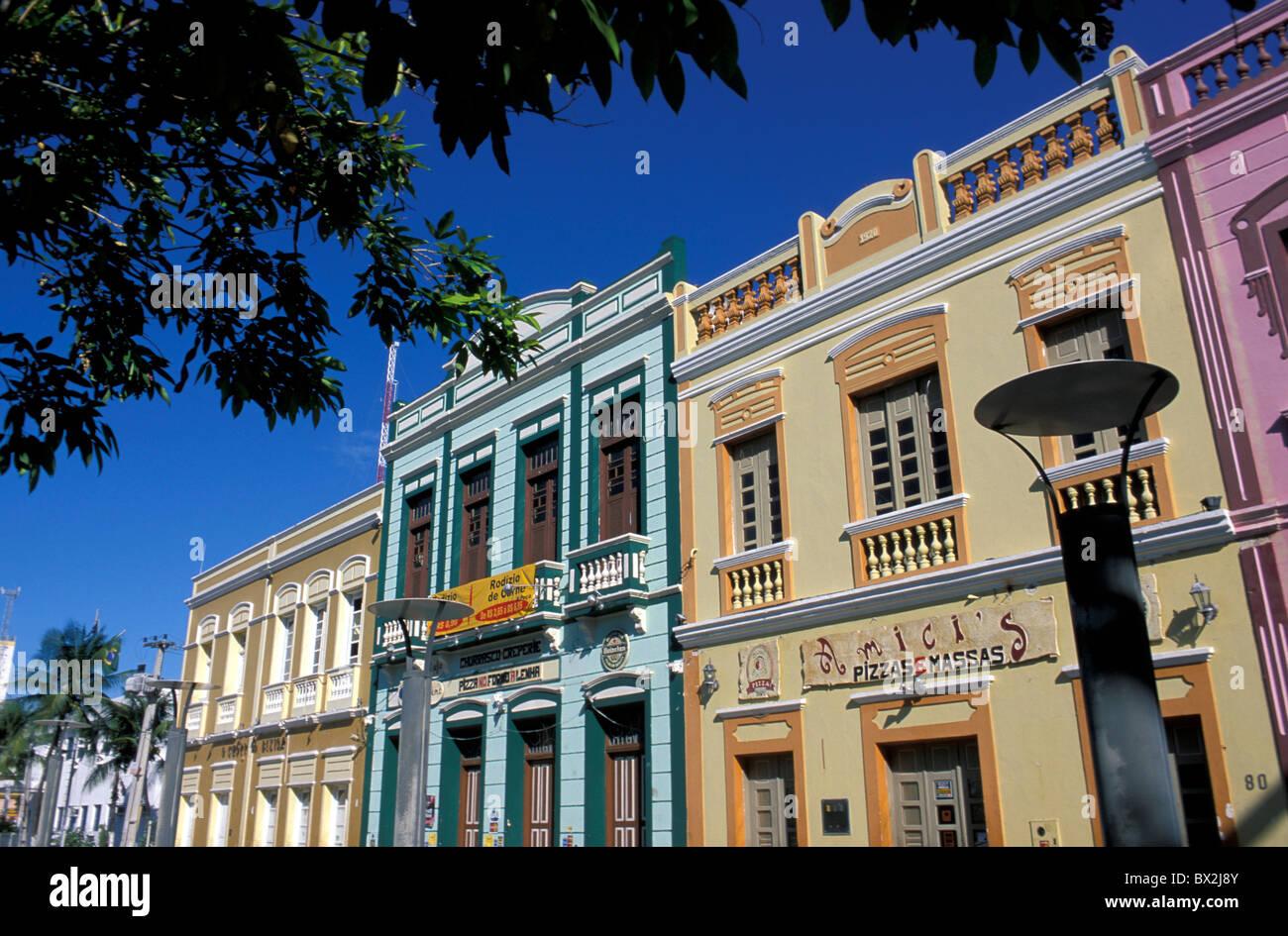 Centro Dragao do Mar de Arte e Cultura Fortaleza Ceara Brazil South America buildings houses facades colorful - Stock Image