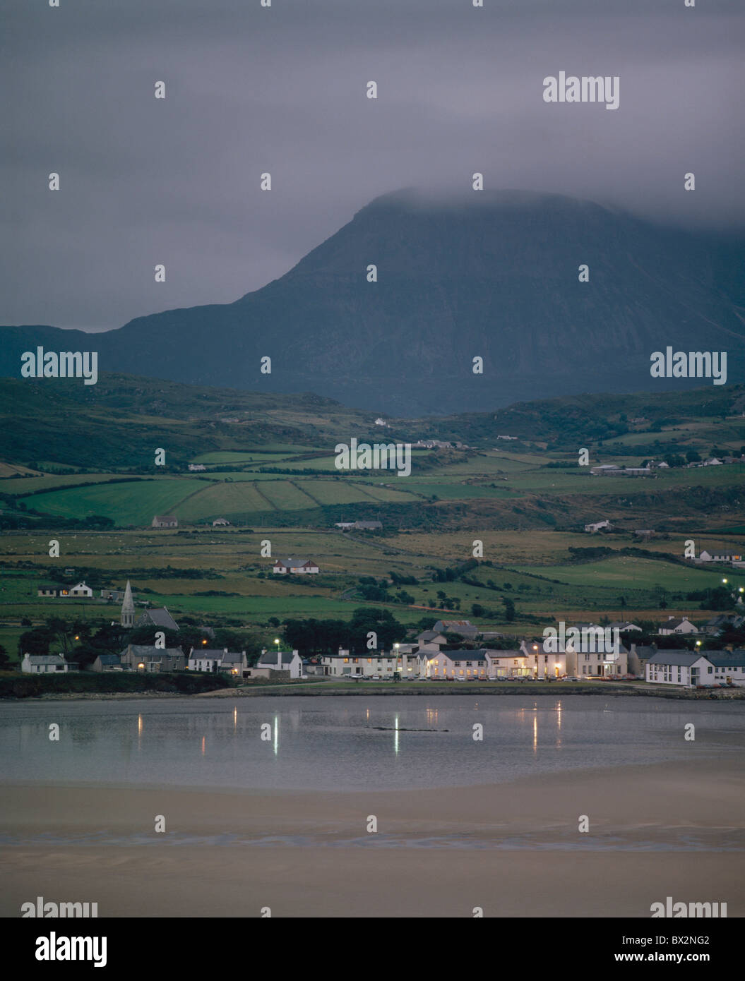 Co Donegal, Dunfanaghy, Ireland; Small Fishing Village On The Water - Stock Image