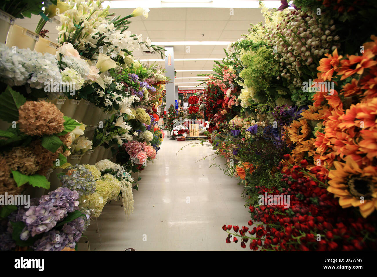Silk Flowers Sale Michaels Store Stock Photos & Silk Flowers Sale ...