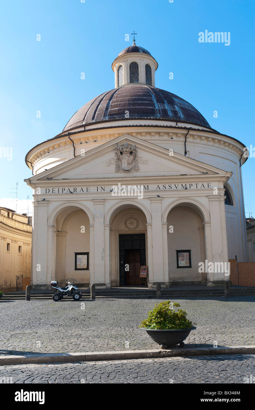 Church Santa Maria Assunta in Cielo Ariccia Italy - Stock Image