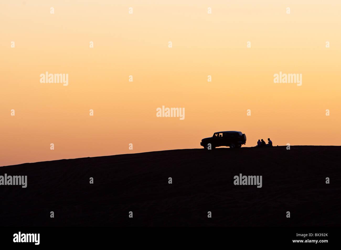 Sunset in Dubai, United Arab Emirates. On the Big Red Stock Photo