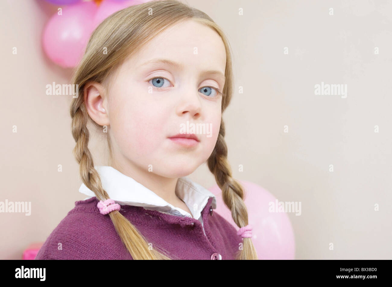 portrait of young girl - Stock Image