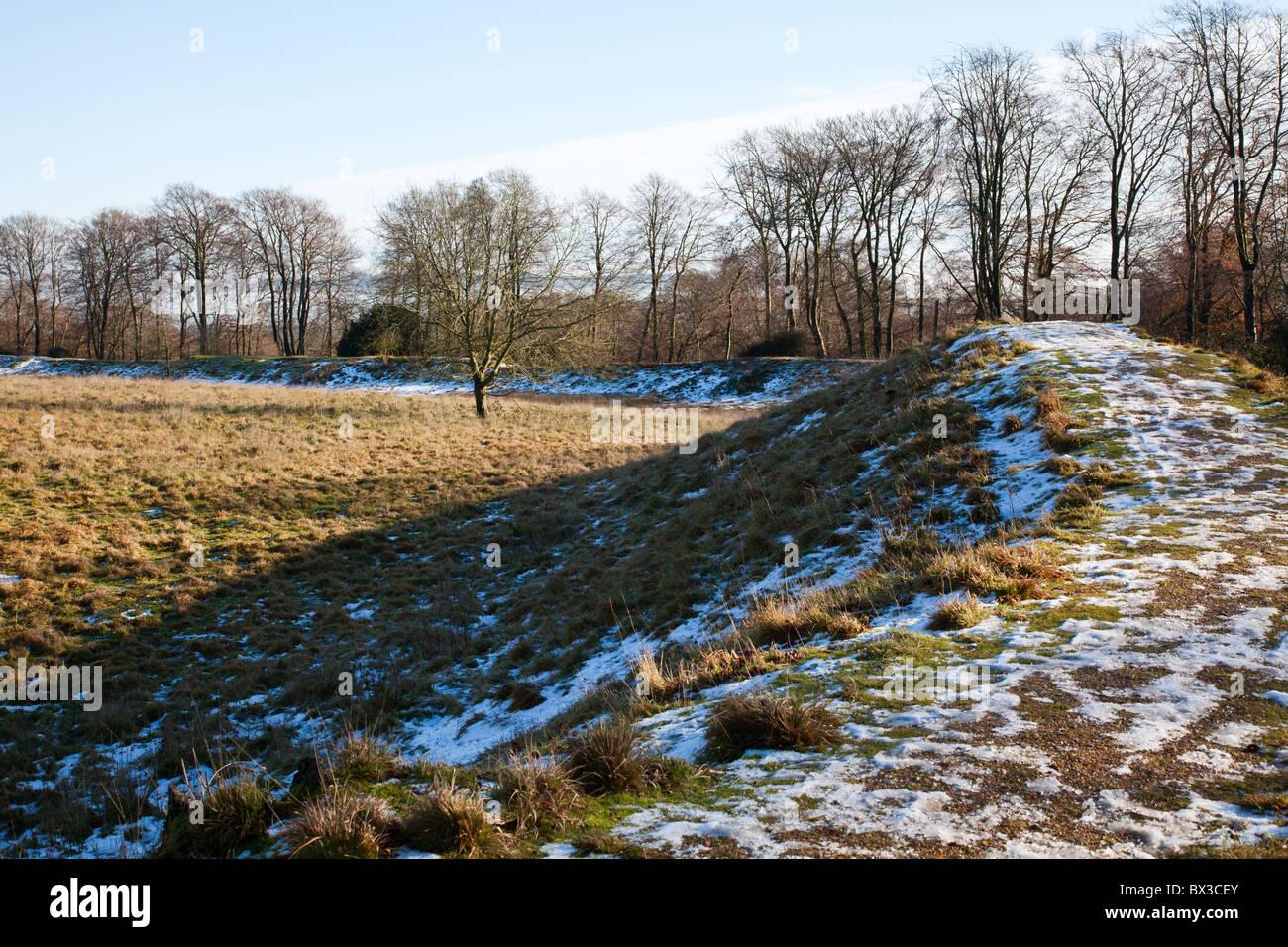 Danebury Iron Age Hill Fort, Hampshire, UK - Stock Image
