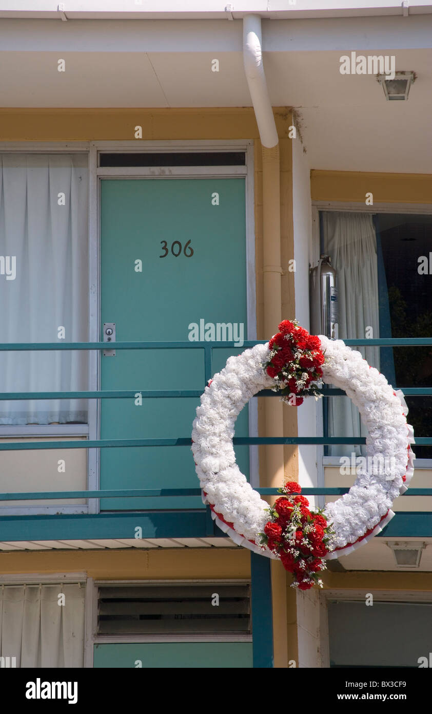 lorraine motel memphis tennessee, where dr martin luther king was killed - Stock Image